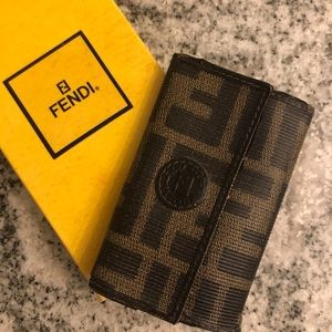 FENDI Zucca used Keyholder with 3 rings 💋